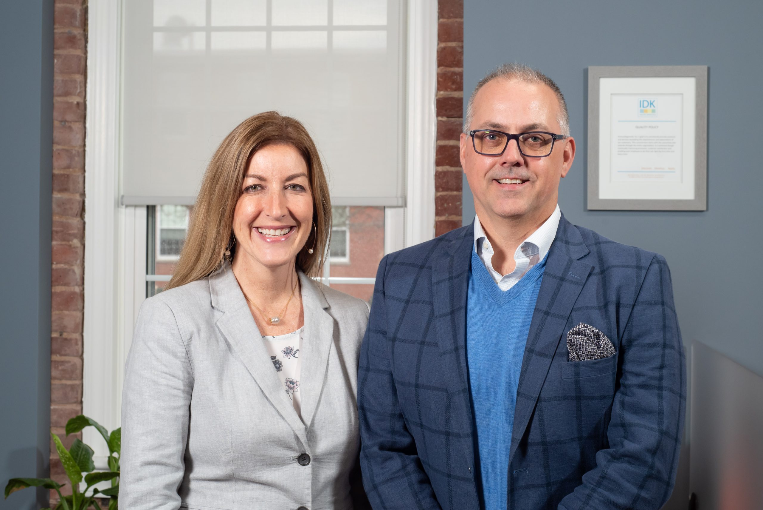 Jen Mayes and Terry Fisher, owners of IDK, Inc.