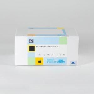 Zinc-Protoporphyrin / Protoporphyrin HPLC Kit box set against a white backdrop.