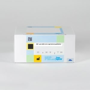The IDK® anti-SARS-CoV-2 IgG ELISA (Qualitative) set against a white backdrop.